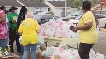 Thanksgiving food giveaway in Pine Hills