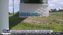 Graffiti painted along I-4 near Walt Disney World