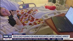 Teen, dad pushing for more resources after cardiac arrest