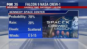 Forecast: How favorable is the weather for Saturday's crewed launch?