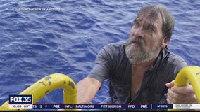 Coast Guard helped rescue man clinging to boat along Central Florida coast