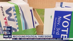 Recycling political yard signs