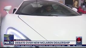 Debate over new McLaren Automotive dealership