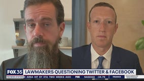Lawmakers question heads of Twitter and Facebook