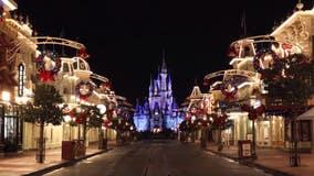 Disney's Magic Kingdom transforms for the holidays