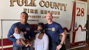 Florida first responders help mother in pain deliver baby safely