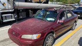 Florida man hauled stolen I-4 utility pole atop his sedan, troopers say