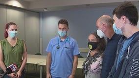 Teen who fell 4 flights off balcony thanks nurses for saving him
