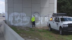 Graffiti continues to pop up along I-4 near Walt Disney World