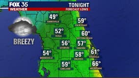 50s and 60s! Another cool night in store for Central Florida