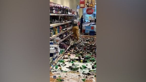 Video: Woman shatters hundreds of alcohol bottles in Aldi supermarket
