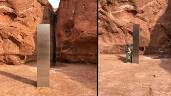 Mysterious monolith 'disappears' from remote Utah desert