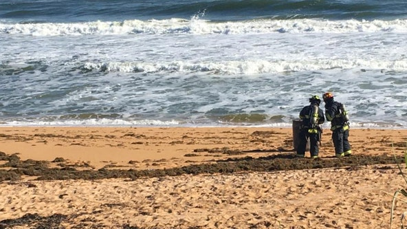 Flagler firefighters investigate hazmat incident at the beach