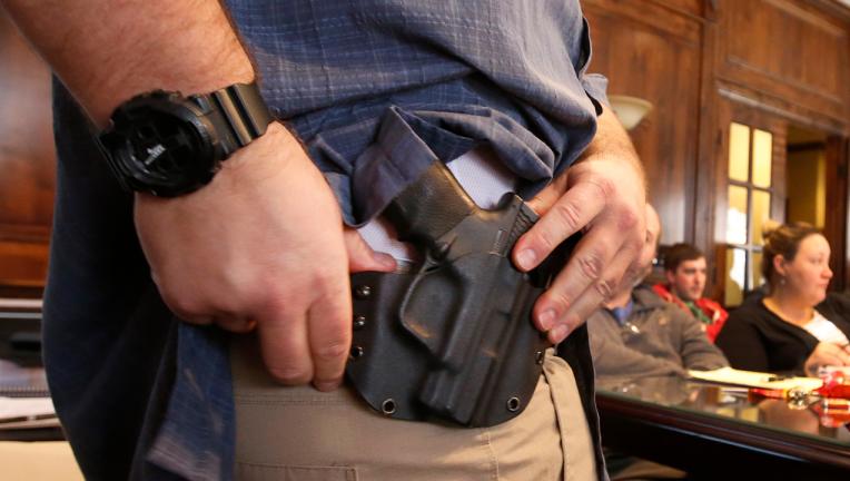 Carrying guns license