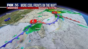 1st of 3 fronts moving in, temps to drop into 30s and 40s this week