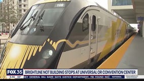 Brightline not building stops at Universal or Convention Center