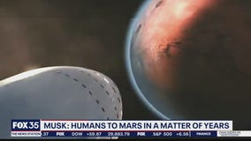 Musk: Humans to mars in matter of years