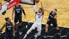 Torrid shooting helps 76ers rout previously unbeaten Magic