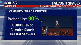 Will weather cooperate for Saturday's SpaceX launch?