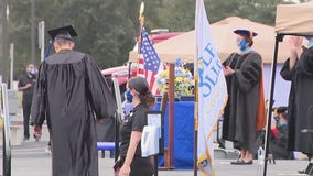 Seminole State College students attend drive-thru graduation