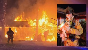 PHOTOS: Marion Co. firefighters save woman, dogs from hotel fire