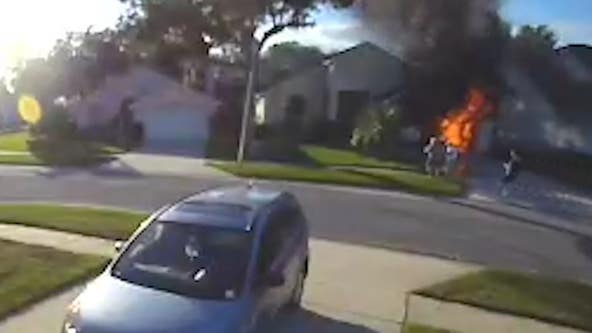 Amazon driver saves elderly man from burning Central Florida home