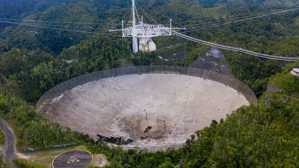 Huge radio telescope in Puerto Rico that played key role in astronomical discoveries collapses