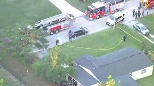 Fire breaks out at Orlando home