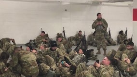 Gov. DeSantis orders Florida National Guard home after video shows them sleeping on parking garage floor