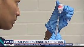 State blames feds for coronavirus vaccine shortfall
