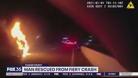 Good Samaritan, deputy rescue man from crash