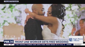 Front line workers get free wedding
