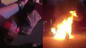 VIDEO: Deputy, Good Samaritan save injured man from fiery crash