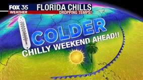 Below normal temperatures for Central Florida to continue