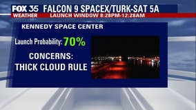 Will weather cooperate for tonight's SpaceX launch?