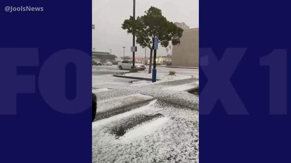 Videos: Rare snow, winter weather spotted across Southern California