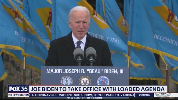 Joe Biden to take office with loaded agenda