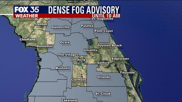 Dense Fog Advisory in effect for much of Central Florida