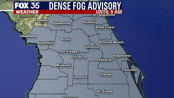 Dense Fog Advisory in effect for Central Florida