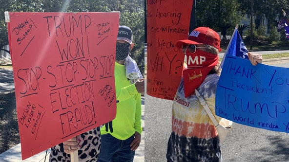 Protesters gather at Florida Capitol on day of Biden's Inauguration