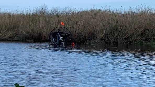 1 juvenile taken to hospital as trauma alert following crash involving two airboats