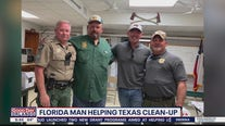 Florida 'chainsaw man' helping with Texas clean-up