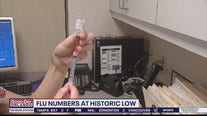 Flu numbers at historic lows