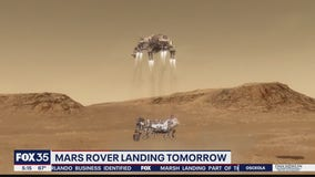 Mars rover landing Thursday afternoon.