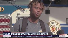 Daytona native becomes DeLand's first black female firefighter