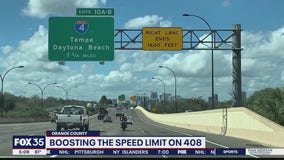 Boosting speed limit on State Road 408