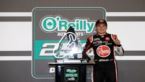 Bell snags first Cup victory in another surprise Gibbs win