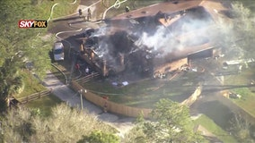 Lake County firefighters battle blaze at large home in Sorrento