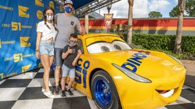 NASCAR Cup Series driver Kyle Busch visits Disney's Hollywood Studios