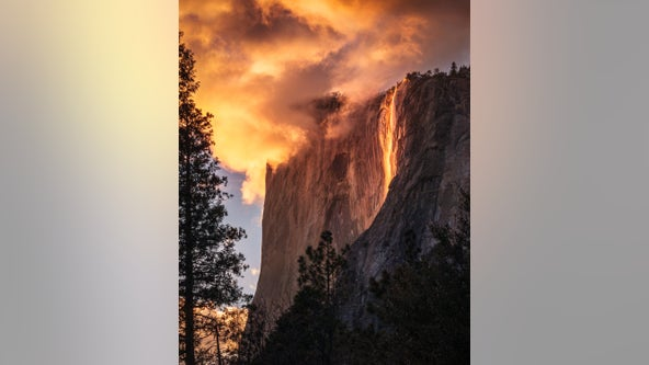 'Magic of mother nature': Yosemite's 'firefall' illuminates El Capitan